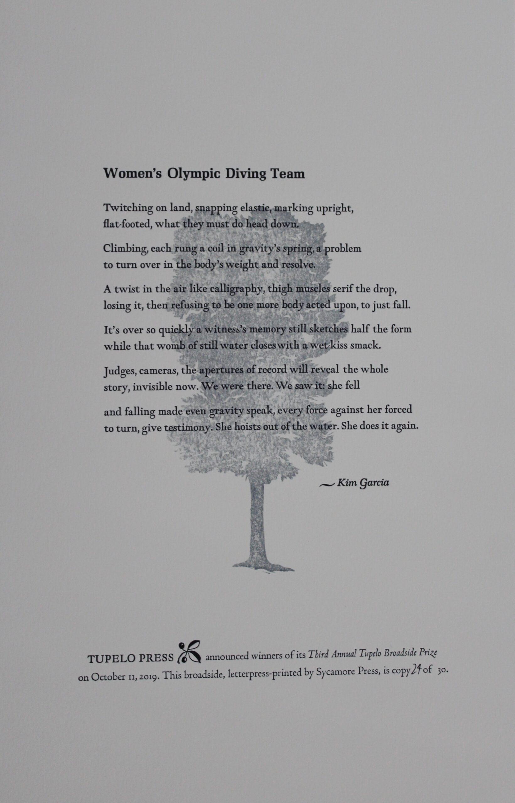 Women's Olympic Diving Team by Kim Garcia